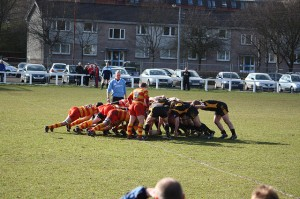A Scrum in rugby